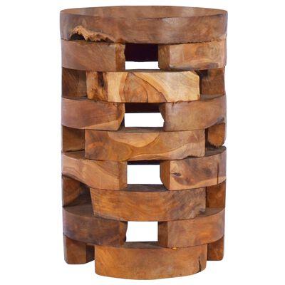 vidaXL Noptieră, 30 x 30 x 45 cm, lemn masiv de tec