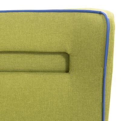 vidaXL Pat cu LED și saltea, verde, 120 x 200 cm, material textil