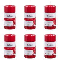 Bolsius Lumânări parfumate striate, 6 buc., rodie, 120 x 58 mm
