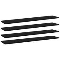 vidaXL Plăci bibliotecă, 4 buc., negru, 100 x 20 x 1,5 cm, PAL