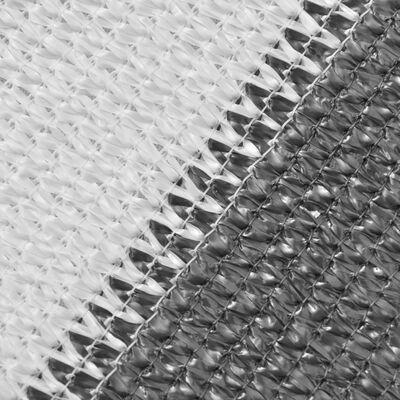 vidaXL Prelată pentru balcon din HDPE, 90 x 400 cm, antracit și alb