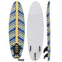 vidaXL Placă de surf, 170 cm, model frunză