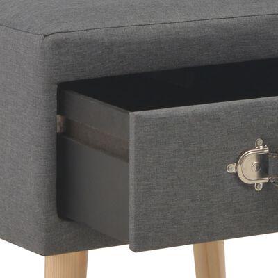 vidaXL Noptiere, 2 buc., gri închis, 40x35x40 cm, material textil