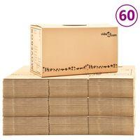 vidaXL Cutii pentru mutare din carton XXL 60 buc., 60 x 33 x 34 cm