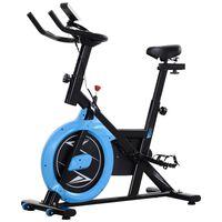 Bicicleta Fitness Intensitate Reglabila Negru Si Albastru Deschis