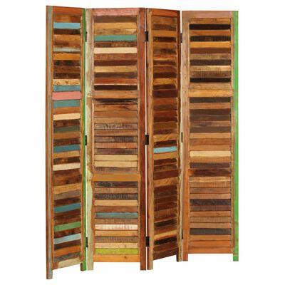 vidaXL Paravan de cameră, 170 cm, lemn masiv reciclat