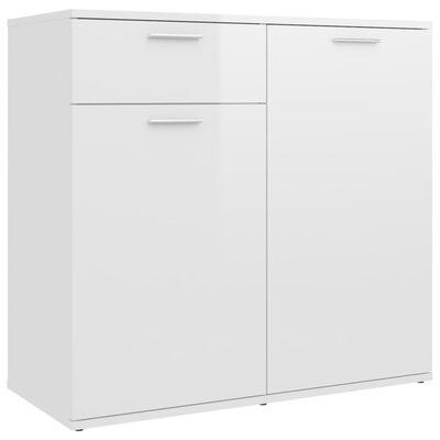vidaXL Servantă, alb extralucios, 80x36x75 cm, PAL
