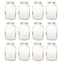 vidaXL Borcane din sticlă cu închidere ermetică, 12 buc., 5 L