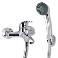 vidaXL Set baterie robinet duș pentru baie, crom