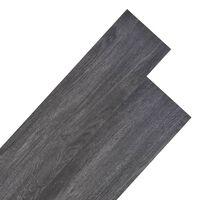 vidaXL Plăci de pardoseală, negru, 4,46 m², PVC, 3 mm