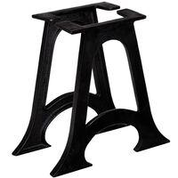vidaXL Picioare masă de cafea 2 buc, bază arcuită în formă de A, fontă