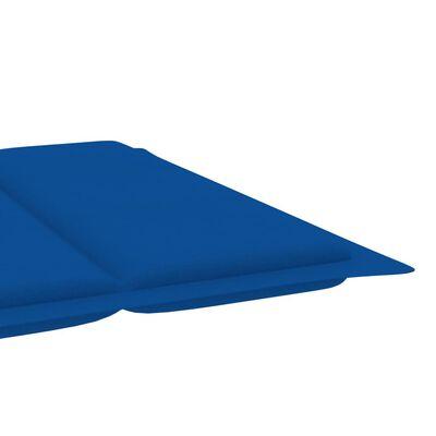 vidaXL Pernă de șezlong, albastru regal, 186x58x4 cm
