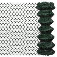 vidaXL Gard de legătură din plasă, verde, 1 x 25 m, oțel