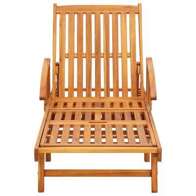 vidaXL Șezlonguri cu perne, 2 buc., lemn masiv de acacia