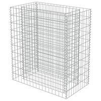 vidaXL Strat înălțat gabion, 90x50x100 cm, oțel galvanizat