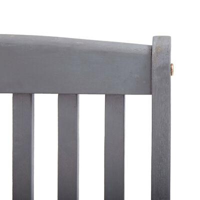 vidaXL Scaune pliabile exterior, cu perne, 4 buc., lemn masiv acacia