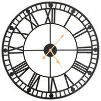 vidaXL Ceas de perete vintage, cu cuarț, mecanism metal, 60 cm, XXL