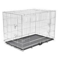 vidaXL Cușcă pentru câini pliabilă, metal, XXL