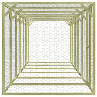 vidaXL Coteț pentru păsări, 1,5 x 9 x 1,5 m, lemn de pin tratat