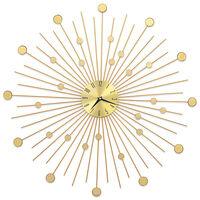 vidaXL Ceas de perete, auriu, 70 cm, metal