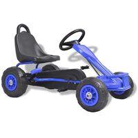 vidaXL Mașinuță kart cu pedale și roți pneumatice, albastru