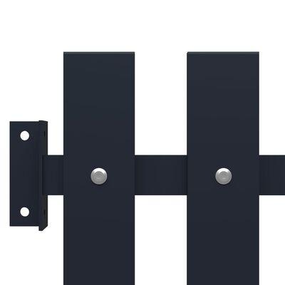 vidaXL Panou de gard antracit 170,5x100 cm oțel vopsit electrostatic