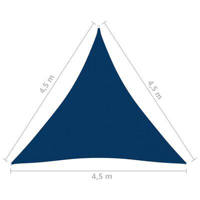 vidaXL Parasolar, albastru 4,5x4,5x4,5 m țesătură oxford triunghiular