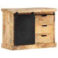 vidaXL Servantă, 80 x 30 x 60 cm, lemn masiv de mango