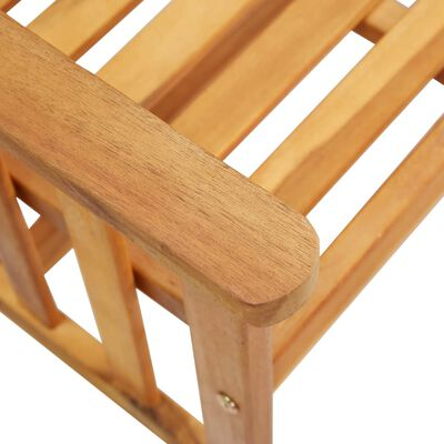 vidaXL Scaune de grădină cu masă de ceai și perne, lemn masiv acacia
