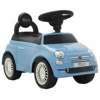 vidaXL Mașinuță fără pedale Fiat 500 albastru