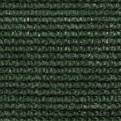 vidaXL Pânză parasolar, verde închis, 3,5x4,5 m, HDPE, 160 g/m²
