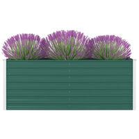vidaXL Strat înălțat de grădină, verde, 160x80x45 cm, oțel galvanizat