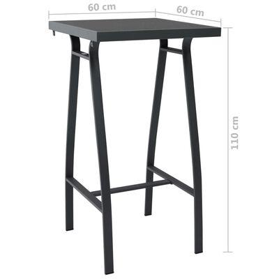 vidaXL Set mobilier de bar pentru grădină, 5 piese, negru
