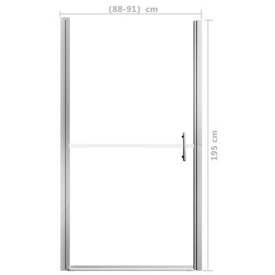 vidaXL Ușă de duș, 91 x 195 cm, sticlă securizată mată
