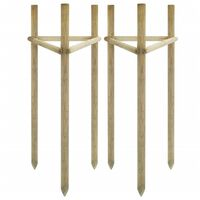vidaXL Araci pentru copaci, 2 buc., 50x45x170 cm, lemn de pin tratat
