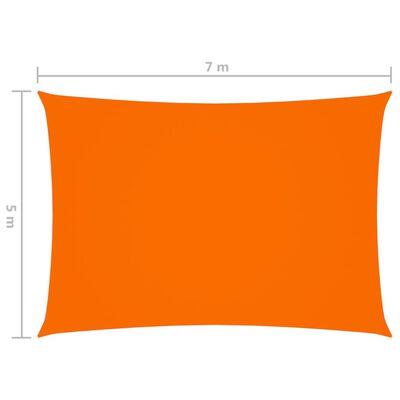 vidaXL Parasolar, portocaliu, 5x7 m, țesătură oxford, dreptunghiular