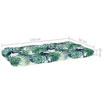 vidaXL Canapea de mijloc din paleți de grădină, lemn pin verde tratat