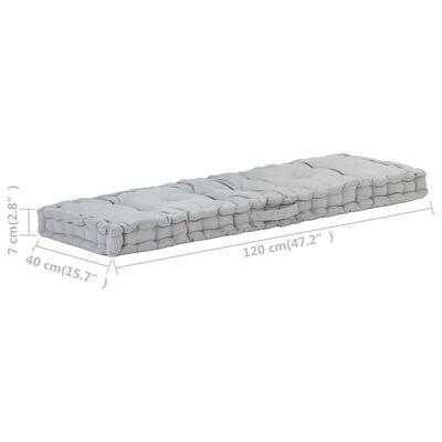 vidaXL Perne pentru canapea din paleți, 2 buc., gri, bumbac