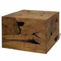 vidaXL Măsuță de cafea, 50 x 50 x 35 cm, lemn de tec natural, maro