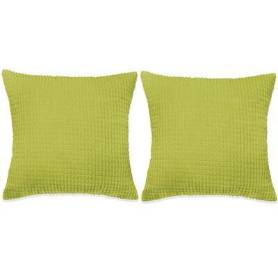 vidaXL Set perne decorative 2 buc. Velur 60 x 60 cm Verde