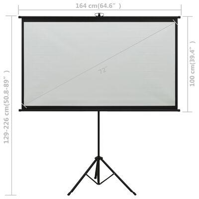 """vidaXL Ecran de proiecție cu trepied 72"""" 16:9"""