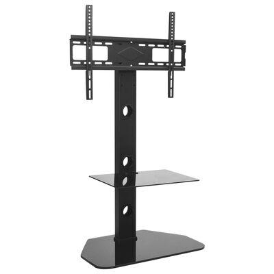 vidaXL Suport TV de podea pivotant, VESA 600x400 mm, cu raft