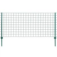 vidaXL Gard Euro, verde, 20 x 0,8 m, oțel