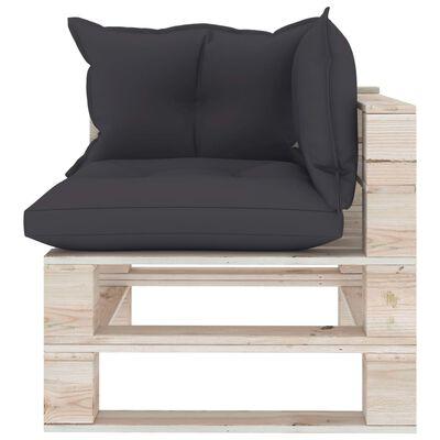 vidaXL Set mobilier grădină din paleți, 9 piese, cu perne, lemn de pin