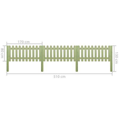 vidaXL Gard din scânduri 5,1 m 130 cm 6/9 cm lemn de pin tratat