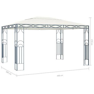vidaXL Pavilion, crem, 400 x 300 cm