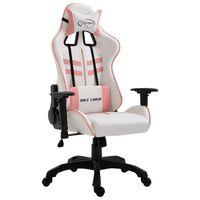 vidaXL Scaun pentru jocuri, roz, piele ecologică