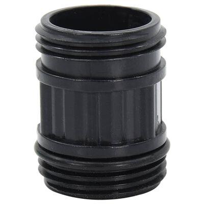 vidaXL Furtun de aspirare cu racorduri din PVC, negru, 10 m, 22 mm