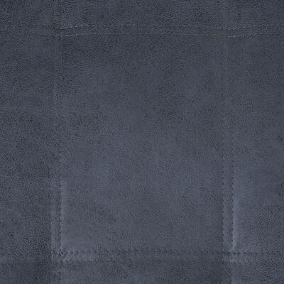 vidaXL Șezlong cu pernă, gri, piele întoarsă ecologică