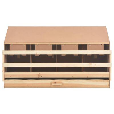 vidaXL Cuibar găini, 4 compartimente, 106 x 40 x 59 cm, lemn masiv pin